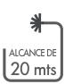 ALCANCE DE 20 MTS