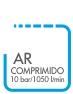 AR COMPRIMIDO 10 BAR 1050