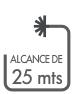 ALCANCE DE 25 MTS