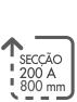 SECCAO 200 A 800 MM