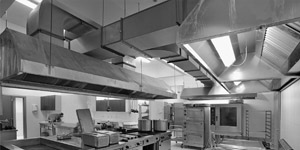 Sistemas de extração de fumo nas cozinhas